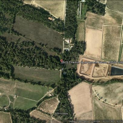 Vignes du Sud vu par Google Earth